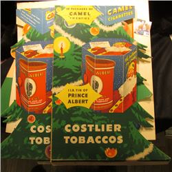 """Pair of 1950 era """"We Will carry 7up to Your Car,,,"""" heavy cardboard counter stands; cardboeard Poste"""