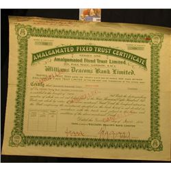 """Number of Certificate 143 Number of Sub-Units 40 """"Amalgamated Fixed Trust Certificate Series One Ama"""