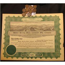 "1916 era ""Walter herring Motor Cultivator  Mfg. Company Shawnee, Oklahoma"" depicts orchards, Dams, f"