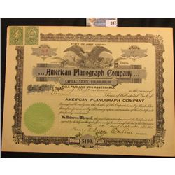 """September 14th, 1905  10 Shares Number 931 State of West Virginia """"…American Planograph Company"""" eac"""