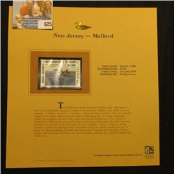 1998 New Jersey Waterfowl $5.00 Stamp depicting a flock of Mallard Ducks, Mint, unsigned, in vinyl p