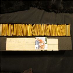 """12"""" Stock Box with Lincoln Cents dating from 1917-69, most in Manilla envelopes, lots of higher grad"""