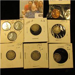 1943 P, D, S World War II Emergency U.S. Steel Cent Set; pair of 1955 S Cents, BU; & (5) Different D