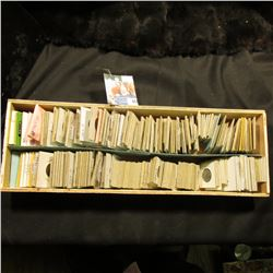 Double Row Wooden Stock box full of Lincoln Cents dating back to WW II with numerous Uncirculated sp