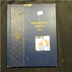 1950-72 Partial Set of Roosevelt Dimes in a blue Whitman Album. (4 Silver & 19 Clad).