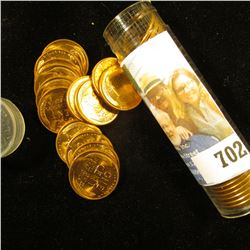1955 D Original Gem BU Roll of Lincoln Cents in a plastic tube. A few spots on coins in this roll.