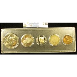 Five-Piece Coin Set in a Snaptight case, includes: 1956 D Lincoln Cent, BU; 1905 Liberty Nickel, Goo