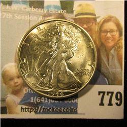 1944 S Walking Liberty Half Dollar, Brilliant Uncirculated.
