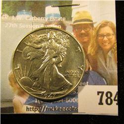 1947 P Walking Liberty Half Dollar, Brilliant Uncirculated.