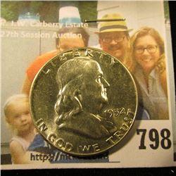 1952 P Franklin Half Dollar, Brilliant Uncirculated.