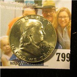 1952 D Franklin Half Dollar, Brilliant Uncirculated.