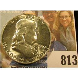 1956 P Franklin Half Dollar, Brilliant Uncirculated.