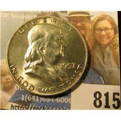 1957 D Franklin Half Dollar, Brilliant Uncirculated.