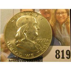 1959 D Franklin Half Dollar, Brilliant Uncirculated.