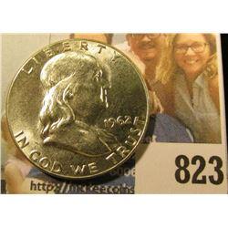 1962 P Franklin Half Dollar, Brilliant Uncirculated.