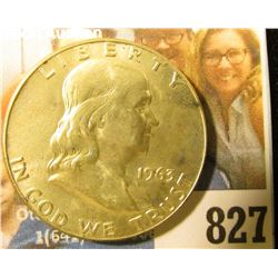 1963 D Franklin Half Dollar, Brilliant Uncirculated.