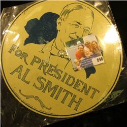 "1928 License Plate Attachment (Hoover) ""For President Al Smith"""