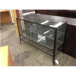 BLACK METAL FRAME 4' GLASS SHOW CASE
