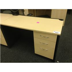 MAPLE AND GREY 4' COMPUTER DESK