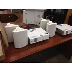3 SONY LCD PROJECTORS AND MISC. HOME THEATRE EQUIPMENT