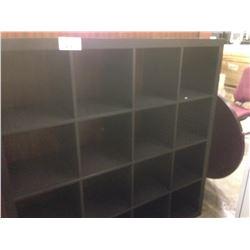 BLACK 16 COMPARTMENT 5' X 5' 16 BOOK CASE