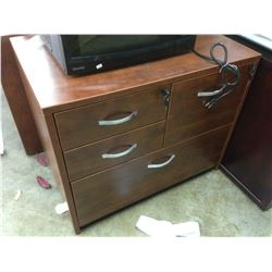 CHERRY 4 DRAWER MULTIFILE CABINET