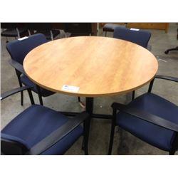 "MAPLE 42"" ROUND TABLE"