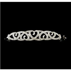0.40 ctw Diamond Bracelet - 10KT White Gold