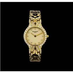 Patek Philippe 18KT Gold 1.00 ctw Diamond La Flame Watch