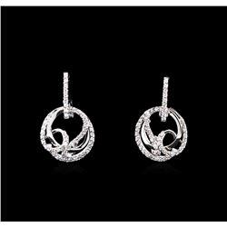 0.50 ctw Diamond Earrings - 14KT White Gold