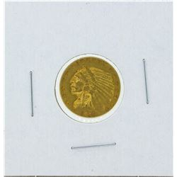 1913 $2 1-2 Indian Head Quarter Eagle Gold Coin XF