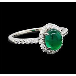 1.99 ctw Emerald and Diamond Ring - Platinum