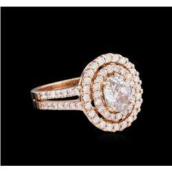 1.76 ctw Diamond Ring - 14KT Rose Gold