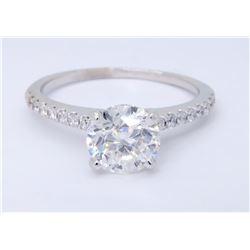 Platinum 1.08ctw Diamond Ring