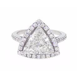 18KT White Gold 3.47ctw Diamond Ring