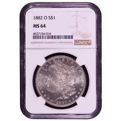 1882-O $1 Morgan Silver Dollar Coin NGC MS64
