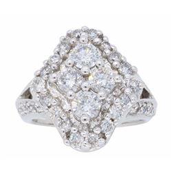 14KT White Gold 1.50ctw Diamond Ring