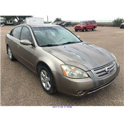 2002 - NISSAN ALTIMA// TX REGISTRATION ONLY