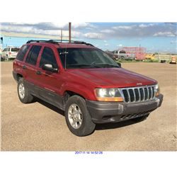 2001 - JEEP GRAND CHEROKEE  // TX REGISTRATION ONLY