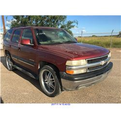 2001 - CHEVROLET TAHOE  // TX REGISTRATION ONLY