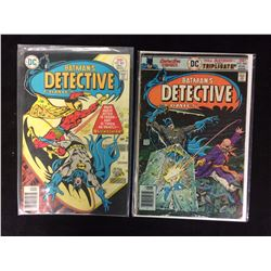 BATMAN'S DETECTIVE COMIC BOOK LOT #466, 462 (DC COMICS)