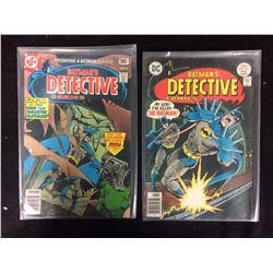 BATMAN'S DETECTIVE COMIC BOOK LOT #477, 467