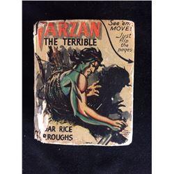 1942 TARZAN the TERRIBLE #1453 Better Little Book; flip Pages EDGAR BURROUGHS