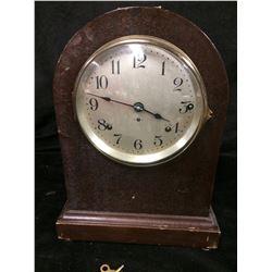 RARE SETH THOMAS TOMBSTONE MANTLE CLOCK WORKING