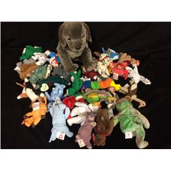 BIG LOT OF 32 BENNIE BABIES ALL WITH TAGS