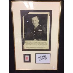 LT. COLONEL W A.BISHOP, V.C, D.S.O, M.C, D.F.C FRAMED COLLAGE