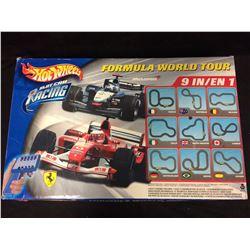 HOT WHEELS FORMULA WORLD TOUR SLOT CAR RACING SET (IN BOX) 9 IN 1