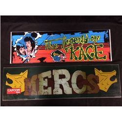 ARCADE GAME GLASS (THE LEGEND OF KAGE, MERCS)