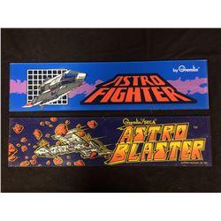 ARCADE GAME GLASS (ASTRO FIGHTER, ASTRO BLASTER)