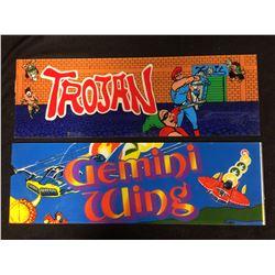 ARCADE GAME GLASS (TROJAN, GEMINI WING)
